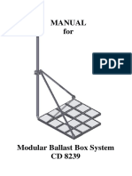 ManuaL for Modular Ballast Box System CD 8239