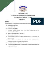 Aula Pratica 1_Analise de Ivestimentos_Calculo de TIR