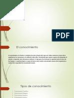 Tipos de Conocimiento (Metodologia)