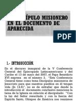 El Discípulo Misionero en El Documento de Aparecida