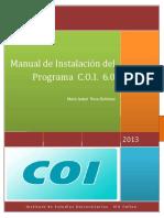 """""""Manual de Instalación y Catalogo de Cuentas C.O.I. 6.0"""""""