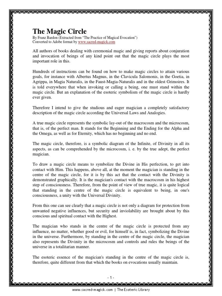 Franz Bardon - The Magic Circle pdf | Consciousness | Western