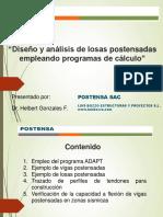 Diseño y Analisis de Losas Postensadas Empleando Programas de CalculoV4