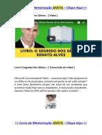 Livro O Segredo Dos Gênios do Professor Renato Alves