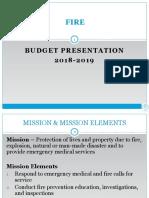 Fire Department Budget FY 2018-2019