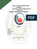 Caratula Carrera Administración de Empresas - UAGRM