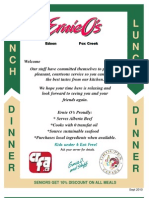 2010 Lunch Dinner Menu