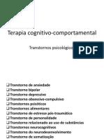 Transtornos Em TCC