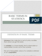 Basic Terms in Statistics