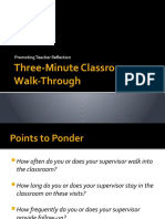 Three-Minute Classroom Walkthrough FACCS 2010