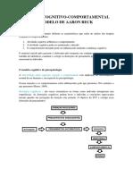 Manual Prático de Terapia Comportamental Cognitivo Resumo