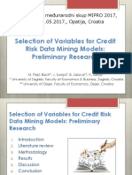 Selection of Variables for Credit Risk Data Mining Models