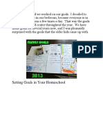 Homeschool Goal Setting