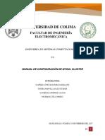 Manual Configuración Mysql Cluster