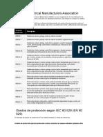 Grados de Protección IP | NEMA