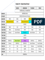 copy of timetable a