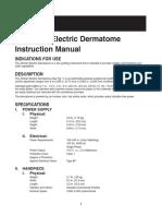 15 Zimmer Electric Dermatome