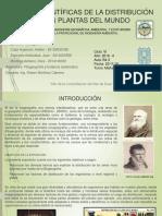 TEORIAS CIENTIFICAS DE LA DISTRIBUCION DE LAS PLANTAS EN EL MUNDO