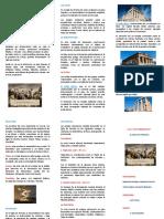 Resumen del Siglo de Pericles en triptico