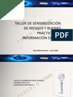 TALLER DE SENSIBILIZACIÓN DE RIESGOS Y BUENAS PRÁCTICAS EN INFORMACIÓN DIGITAL