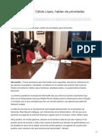 10-08-2018-Se reúnen CPA y Célida López hablan de prioridades para Hermosillo - Uniradionoticias