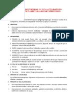 PREVENCIÓN DE PÉRDIDAS EN ACTIVIDADES DE MANTENIMIENTO RUTINARIO DE CAMINOS DE TIERRA
