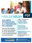 Talk Saves Lives - Spanish Lunch and Learn Sept 2018