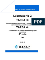 Laboratorio 2 - Tarea 3 y 4