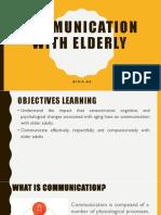 Communication in Elderly