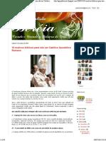 IGREJA BATISTA BERÉIA_ 10 Motivos Bíblicos Para Não Ser Católico Apostólico Romano