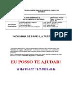 Unopar Desenvolv de Sistema - Indústria de Papéis, A Treetorah 3 e 4 Semestre