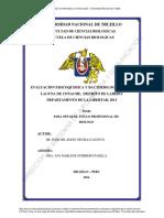 Evaluación de La Calidad Físico-química de LA LAGUNA CONACHE - LAREDO
