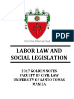 2017 UST Golden Notes - Labor Law