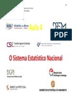 Aula 4 - Sistema Estatístico Nacional