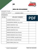 2018 Nomina Oficial de Jugadores 2018