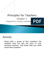Principles for Teachers