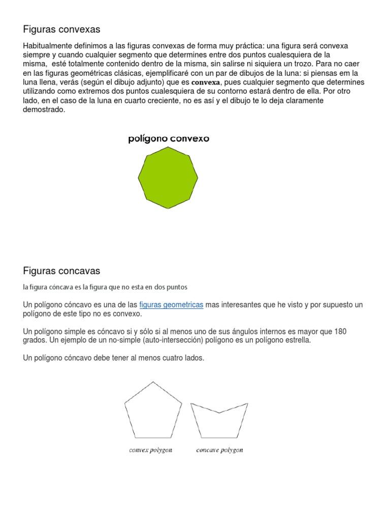 Figuras Convexas Y Concavas Conjunto Convexo Polígono