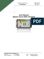 2 003 User Manual Master Clock WDP Y2Y4Y8