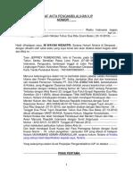 Draf Revisi II Akta Pengambilalihan Iup Dengan Pdt. Andre Rokot