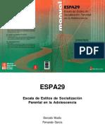 ESPA29 Parental Socialization Scale in A