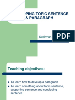 Developing topic sentence & paragraph.ppt