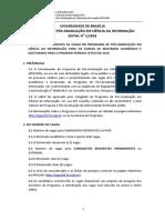 Edital Mestrado FCI - UN 2019