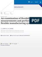 An Examination of Flexibility Measurements and Performance of Flexible Manufacturing Systems