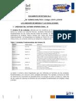 Documento de Estudio No. 1. Unidades de Medidas y de Concentracion de Soluciones