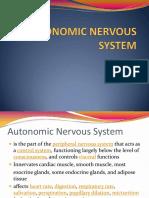 3.2 Autonomic Nervous System