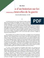 Marc Bloch - Reflexions Sur Les Fausses Nouvelles de La Guerre 1921