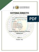 Sistema de Agua Directo 2018-II