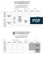 Horario Nde Clases 2011 - III