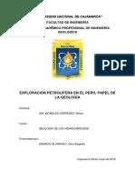 Exploración Petrolífera en el Perú