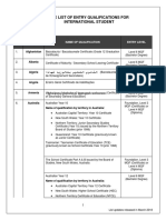 Senarai Nilai Taraf BI (Mac 2018)
